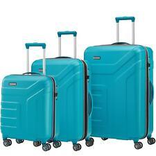 Travelite Vector Türkis blau 4 Rollen 3 tlg. 55 70 77 cm Trolley Set TSA Koffer