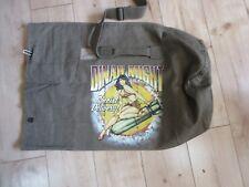 Dinah Might Riding Pin-up Denim Seesack Canvas Duffle Bag US Navy Army Marines