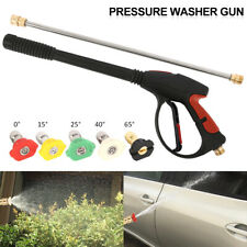 High Power Pressure Water Car Washer Spray Gun 4000PSI Lance Hose Nozzle & Tips