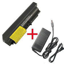"""Charger / Battery for IBM Lenovo ThinkPad R61 T61 T400 R400 14.1"""" Widescreen"""