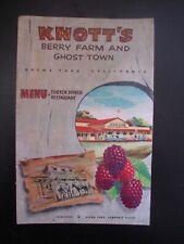 Vintage Knotts Berry Farm Amusment Park c.1953 Booklett Broucher Menu