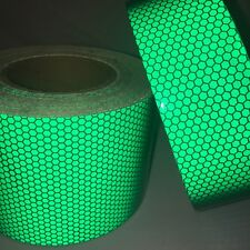 New Green High Intensity Reflective Tape Vinyl Self-Adhesive 100mm×1m Roll