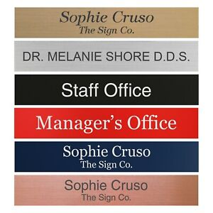 """Personalized Name Plate Sign for Office Desk or Door 2"""" X 12"""" - Customized"""