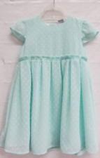 Mädchen Kleid Sommerkleid mint mit Punkten Hochzeit Schulanfang Gr. 98 104 110
