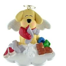 DOG IN HEAVEN YELLOW CHRISTMAS TREE ORNAMENT SO CUTE!