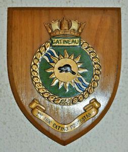 HMCS Gatineau shield plaque crest Royal Canadian Navy RCN naval RN HMS