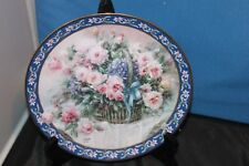 Vintage W S George Fine China 1992 Collector Plate, Lena Liu's Basket Bouquets,