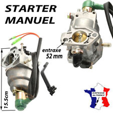 CARBURATEUR starter MANUEL moteur piece groupe electrogene 10 11 13 cv