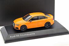 Audi RS 3 Limousine Baujahr 2016 glut orange 1:43 iScale