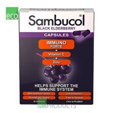 Sambucol Immuno Forte Black Elderberry Vitamin C & Zinc 30 Capsules
