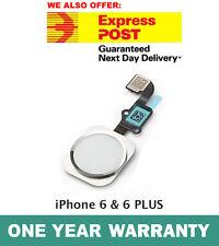 iPhone 6 & 6 PLUS Home Button Flex Cable Finger Fingerprint Scanner Sensor WHITE