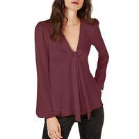 MICHAEL KORS NEW Women's Long Sleeve Tie Neck Blouse Shirt Top TEDO