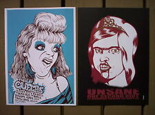 UNSANE and QUEERS Punk Rock Concert mini Posters SET