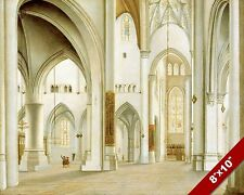 INTERIOR CHURCH OF SAINT BAVO HAARLEM NETHERLANDS ART PAINTING REAL CANVAS PRINT