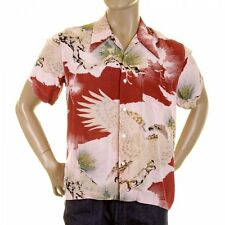 RMC Jeans Pink Eagle in Leaf Print Hawaiian Shirt