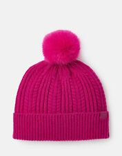 Joules Womens 207389 Cable Hat - Deep Fuchsia - One Size