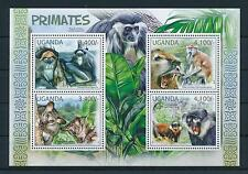 [25808] Uganda 2012 Wild Animals Primates Monkeys MNH