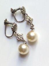 Silver Marcasite Earrings Vintage Fine Jewellery