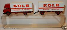 WIKING HO 1/87 CAMION MB MERCEDES 1638 + REMORQUE KOLB MOBELSPEDITION MEMMINGEN