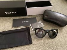3ab5691a46210 Chanel Women s Black Sunglasses with case 71186A S0156 Polarized-worn Once