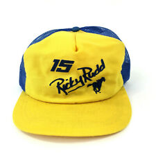 Vintage 80's Snapback Wrangler 15 Ricky Rudd Trucker Hat Cap 1984 Blue Yellow