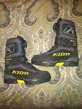 KLIM KLUTCH GTX BOA BOOT SIZE 7 BLACK GORE-TEX  GENTLY USED, CLOSE TO NEW no box