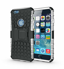 """For iPhone 6 6s 4.7"""" White Heavy Duty Strong Tradesman Durable Case Cover Stand"""