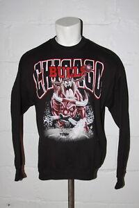 VTG Deadstock Chicago Bulls Taz Warner Bros Black Pullover Sweatshirt Sz XL
