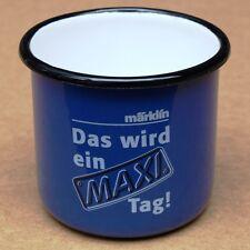 MÄRKLIN MAXI Alte emaillierte Tasse Göppingen um 1994 MAKELLOS  Eisenbahn Spur 1