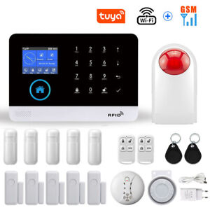 Smart Life WIFI GSM Funk Alarmanlage Haus Bewegungsmelder Sicherheitssystem KIT