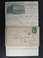 Maine: Portland 1888 United States Hotel Allover Illustrated Advertising Cover