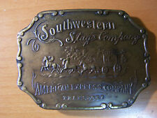 Vintage Southwestern Stage Company American Express Transport Cowboy Belt Buckle