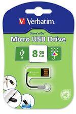 Verbatim Store'n'Go Micro Eucalyptus Green 8GB USB 2.0 Thumb Flash drive # 47423