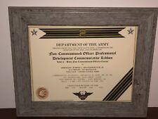 ARMY NCO LV-2 PROFESSIONAL DEVELOPMENT COMMEMORATIVE RIBBON CERTIFICATE ~ Type 1