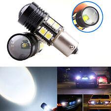 2 x White 1156 BA15S 12-SMD 1141 LED Light Fog DRL Brake Reverse Globe Bulbs 12V