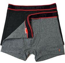 Superdry Boxer Underwear Trunk Boxer Short Black & Grey M (2 PACK)