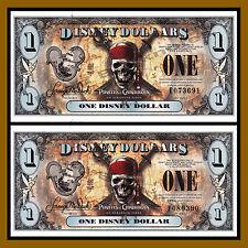 "Disney 1 Dollar, 2011 ""E & F"" Series 5 Digit Serial Pirates of the Caribbean Unc"