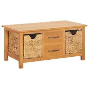 Solid Oak Wood Cabinet Storage Unit Side Organiser Cupboard Sideboard Baskets
