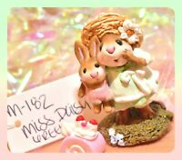 ❤️Wee Forest Folk M-182 Miss Daisy Green Dress Mouse Bunny Rabbit Retired WFF❤️
