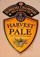 CASTLE ROCK brewery HARVEST PALE cask ale beer pump clip badge front Nottingham