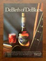 1988 DeKuyper BluesBerry Schnapps Vintage Print Ad/Poster Pop Art Bar Decor