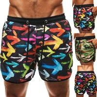 Men's Loose Beach Shorts Camouflage Casual Surf Board Swim Pants Summer Shorts