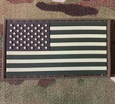 USA FLAG RUBBER PVC TACTICAL ARMY MORALE MILSPEC MULTICAM HOOK PATCH