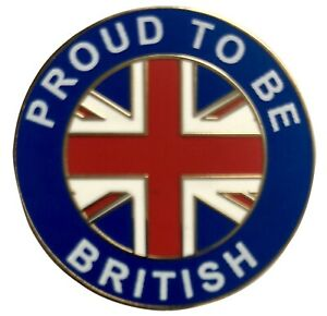 Proud To Be British Union Jack Flag Enamel Pin Badge Large 30mm Diameter