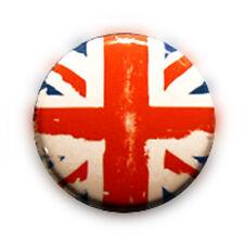 Badge DRAPEAU USED FLAG GB Anglais British Rock Punk usé destroy button Ø25mm