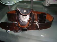 Vintage Police Bianchi Leather Heavy Duty Gun Belt Pouches & Handcuff Holders