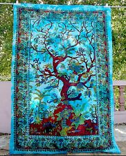Indian Decor Hippie Tapestry Tree Of Life Twin Wall Hanging Throws Bedspreads