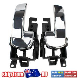 2Pc Inner Door Handle Right Left Front Rear For Nissan Navara D40 Pathfinder R51