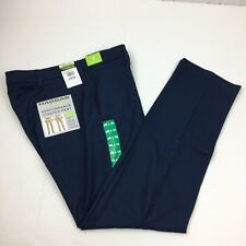 NEW Men's Haggar In Motion Performance Straight Fit Stretch Pants Blue 38x34