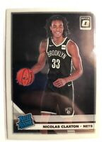 2019-20 Optic Rated Rookie Base RC Nicolas Claxton #171 Nets
